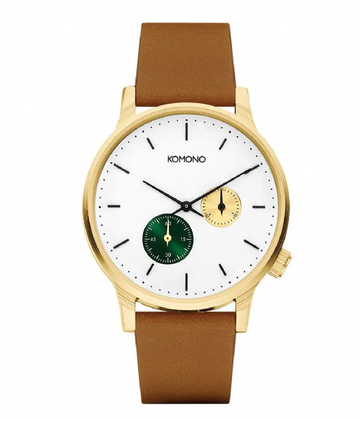 KOMONO Horloge Watch Winston double Subs green (W3053)