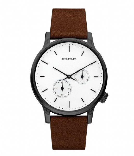 KOMONO Horloge Watch Winston double Subs white (W3054)