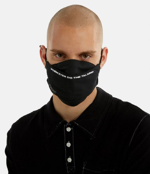 KOMONO Mondkapje Face Mask Slogan Version black