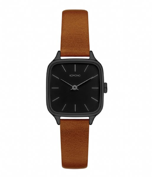 KOMONO Horloge Watch Kate Black black cognac (W4250)