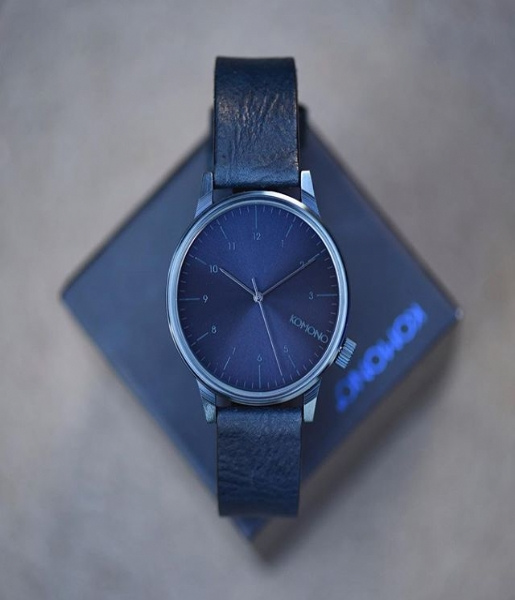 KOMONO Horloge Winston Regal all blue (W2266)