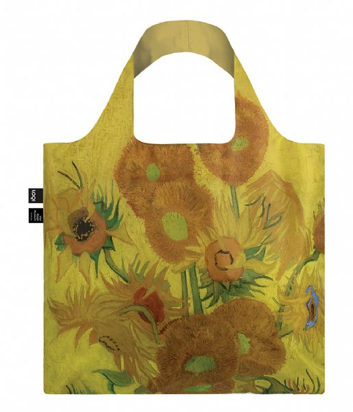 LOQI Shopper Foldable Bag Museum Collection collection sunflowers