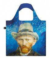 LOQI Foldable Bag Museum Collection self portrait with grey felt hat