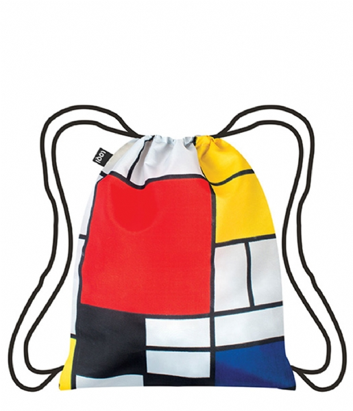 LOQI Dagrugzak Backpack Museum Collection composition with red yellow blue and black