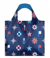 LOQI Foldable Bag Nautical classic