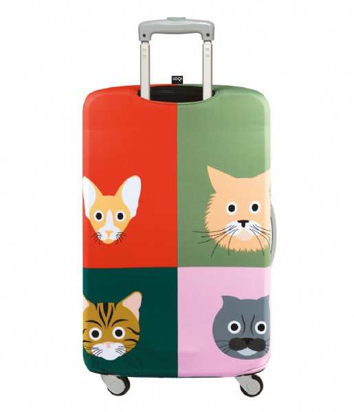 LOQI Kofferhoes Luggage Cover cats