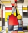 LOQI Shopper Foldable Bag Museum Collection composition with red yellow blue and black