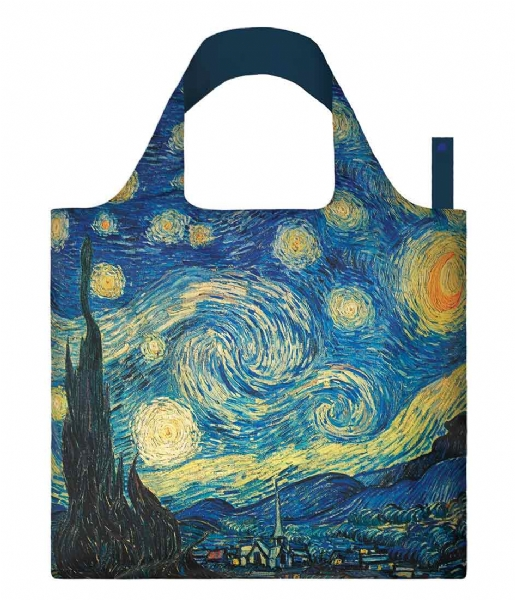 LOQI Shopper Foldable Bag Museum Collection the starry night