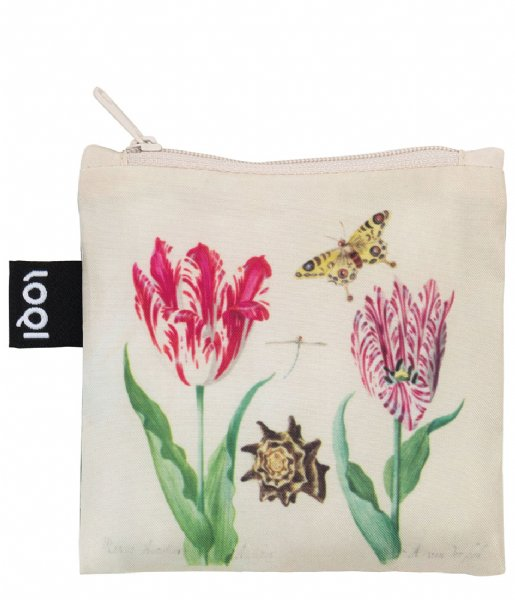 LOQI Shopper Foldable Bag Museum Collection two tulips irma boom