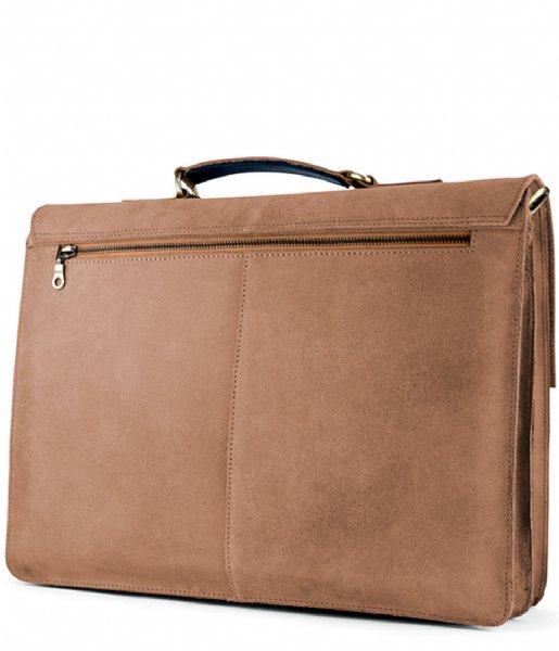 Laauw Laptop schoudertas Bag Cuzco 15 Inch cognac
