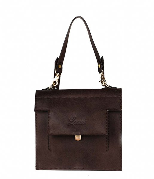 Laauw Handtas Kyoto Bag dark brown