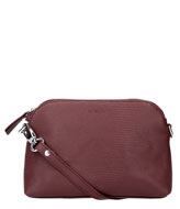 LouLou Essentiels Bag Small Lovely Lizard Dark Red