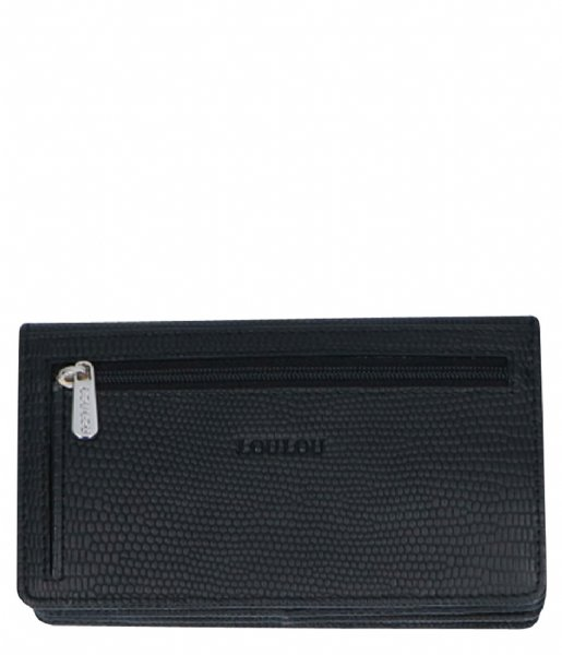 LouLou Essentiels Overslagportemonnee Bag Lovely Lizard Silver Colored A9-7 black