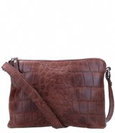 LouLou Essentiels Crossbodybag Vintage Croco Dark brown (020)
