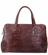 LouLou Essentiels Laptop tas Vintage Croco 13 Inch Dark Brown (20)