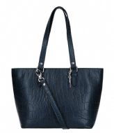 LouLou Essentiels Bag Vintage Croco dark blue (050)