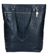 LouLou Essentiels Bag Vintage Croco 13 Inch Dark Blue 050