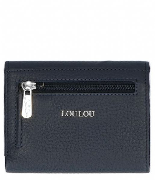 LouLou Essentiels Pasjes portemonnee SLB Girl Boss Silver Dark Blue (050)
