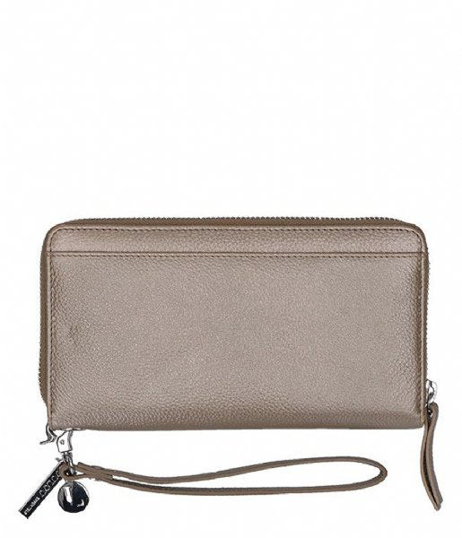 LouLou Essentiels Ritsportemonnee Pearl Shine Sand 014