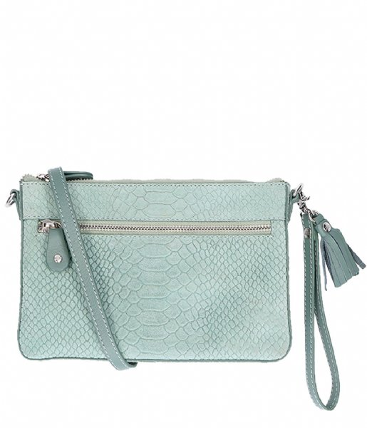 LouLou Essentiels Crossbodytas Pouch Sugar Snake menthe (068)