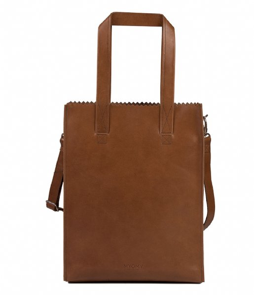 MYOMY Shopper My Paper Bag Deluxe Office hunter waxy cognac (10681237)