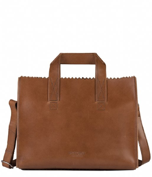 MYOMY Schoudertas My Paper Bag Handbag Crossbody hunter waxy cognac (10671237)