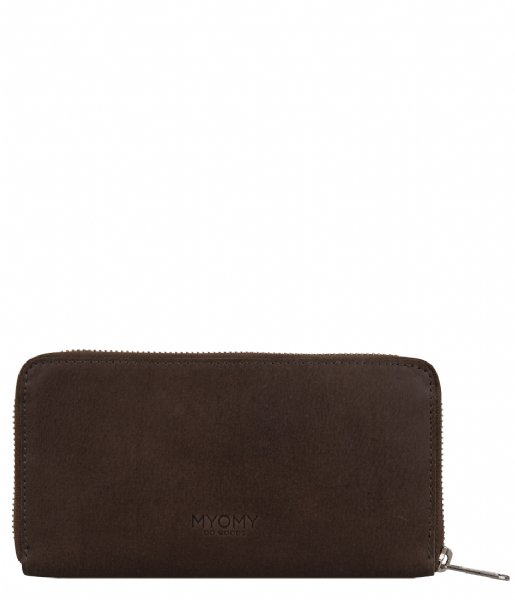 MYOMY Ritsportemonnee My Paper Wallet Large waxy taupe (10161239)