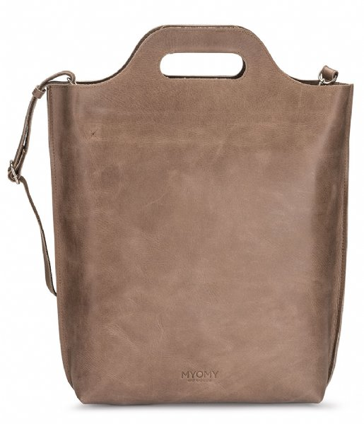 MYOMY Handtas Carry Shopper hunter waxy taupe (80241239)