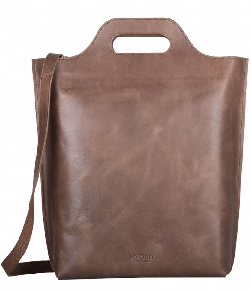 MYOMY Handtas Carry Shopper hunter waxy original (80241166)