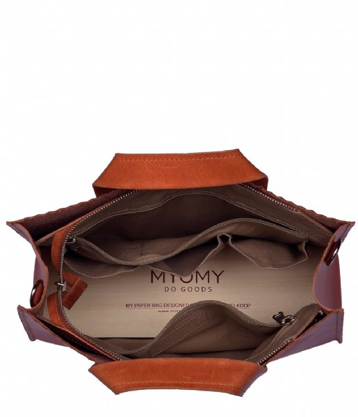 MYOMY Schoudertas My Paper Bag Handbag Crossbody hunter waxy ginger (10671163)