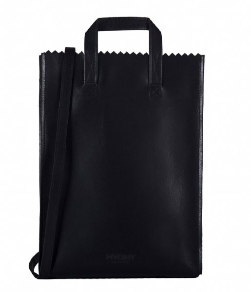 MYOMY Shopper My paper Bag Handy Short Handle hunter waxy black (10341162)