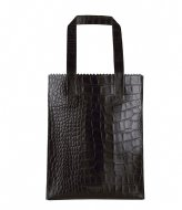MYOMY My Paper Bag Zipper Long Handles New croco black (10273014)