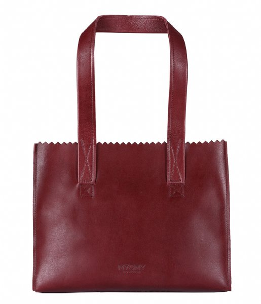MYOMY Schoudertas MY PAPER BAG Handbag hunter waxy burgundy (10573011)