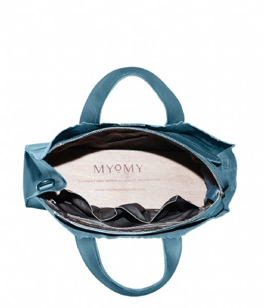 MYOMY Schoudertas My Paper Bag Handbag Crossbody Petrol (1067-83)