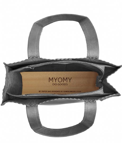 MYOMY Schoudertas My Paper Bag Zipper Long Handles New off black (10271081)