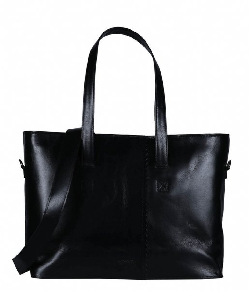 MYOMY Schoudertas My Paper Bag Wrapped Workbag hunter waxy black (2133-1162)