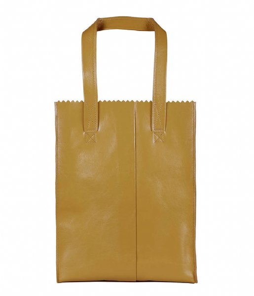 MYOMY Schoudertas My Paper Bag Zipper Long Handles New seville ocher (1027-55)