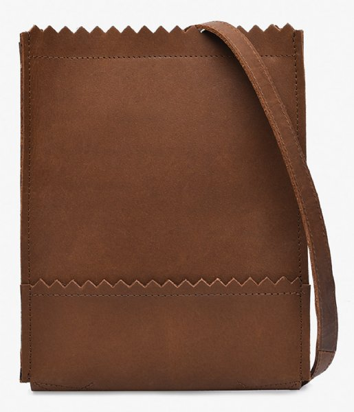 MYOMY Crossbodytas MY PAPER BAG Baggy Medium Hunter taupe (1061-1381)