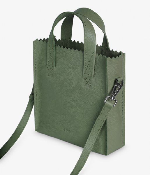 MYOMY Handtas My Paper Bag Square Mini Rambler Green (3651-52)