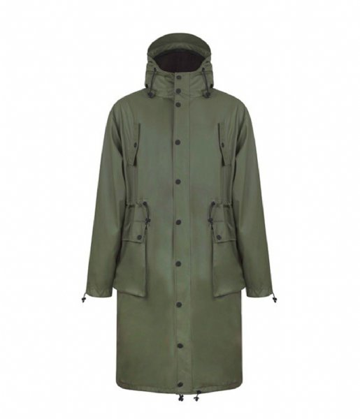 Maium Regenjas Maium Parka Light Weight army green