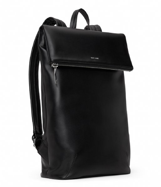 Matt & Nat Dagrugzak Colton Loom Backpack 13 Inch black shiny nickel