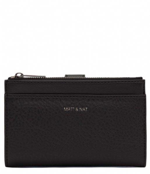 Matt & Nat Ritsportemonnee Motiv Small Dwell Wallet black