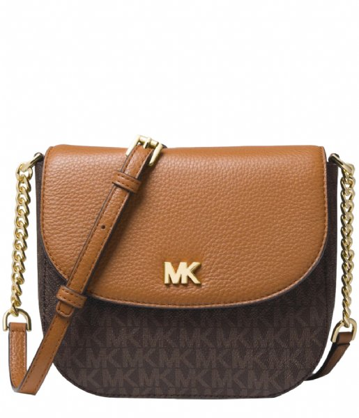 b55d55f2422 Half Dome Crossbody brown acorn & gold hardware Michael Kors | The Little  Green Bag