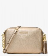 Michael Kors Jet Set Crossbody pale gold colored & gold colored hardware