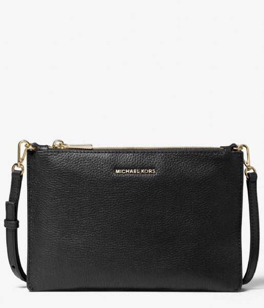 Michael Kors Crossbodytas Large Double Pouch Crossbody black & gold colored hardware