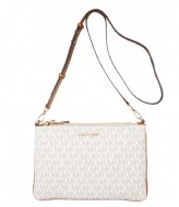 Michael Kors Large double Pouch Crossbody vanilla & gold colored hardware