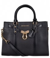 Michael Kors Nouveau Hamilton Small Satchel black & gold hardware