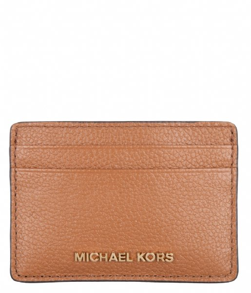 Michael Kors Pasjes portemonnee Card Holder luggage & gold colored hardware