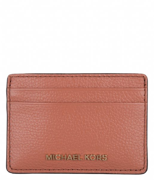 Michael Kors Pasjes portemonnee Card Holder sunset peach & gold colored hardware