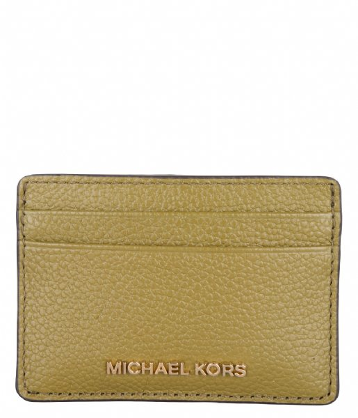 Michael Kors Pasjes portemonnee Card Holder pistachio & gold colored hardware